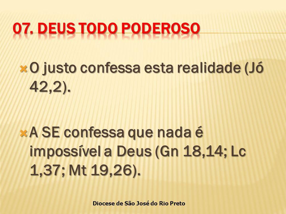 Diocese de São José do Rio Preto  O justo confessa esta realidade (Jó 42,2).