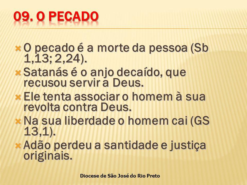 Diocese de São José do Rio Preto  O pecado é a morte da pessoa (Sb 1,13; 2,24).