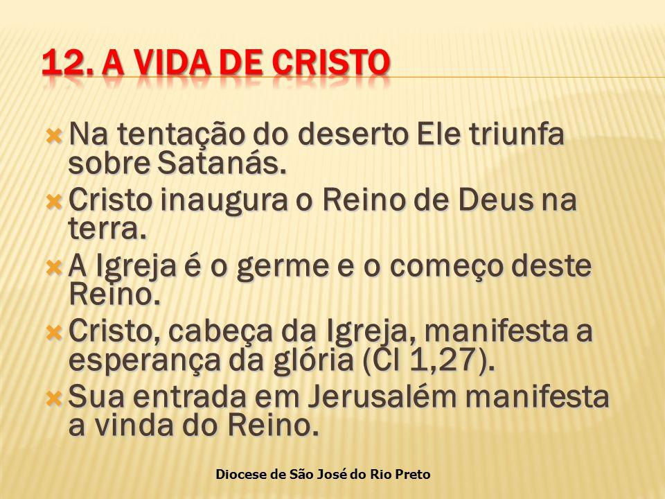 Diocese de São José do Rio Preto  Na tentação do deserto Ele triunfa sobre Satanás.