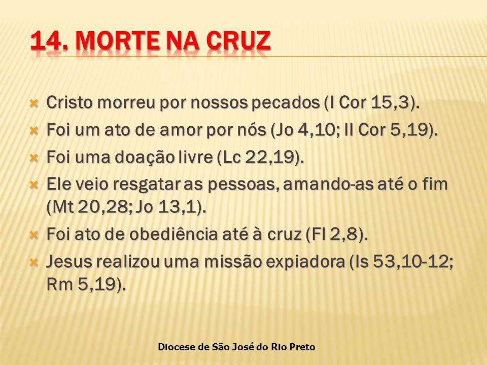 Diocese de São José do Rio Preto  Cristo morreu por nossos pecados (I Cor 15,3).
