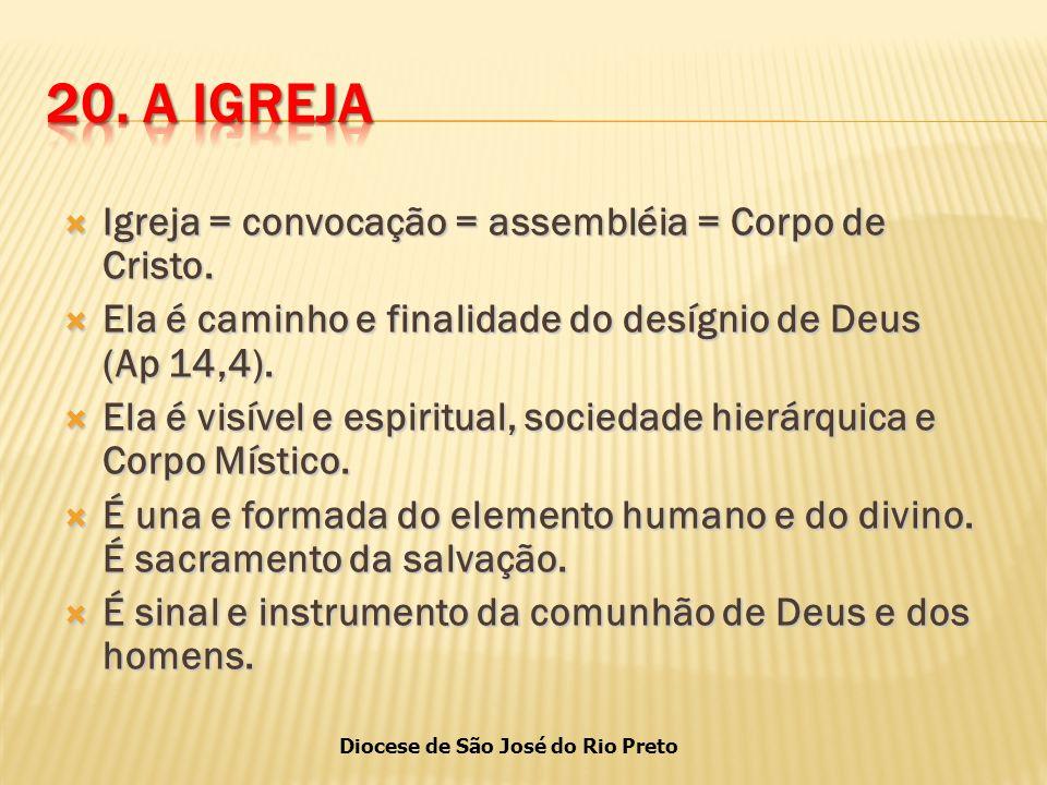 Diocese de São José do Rio Preto  Igreja = convocação = assembléia = Corpo de Cristo.