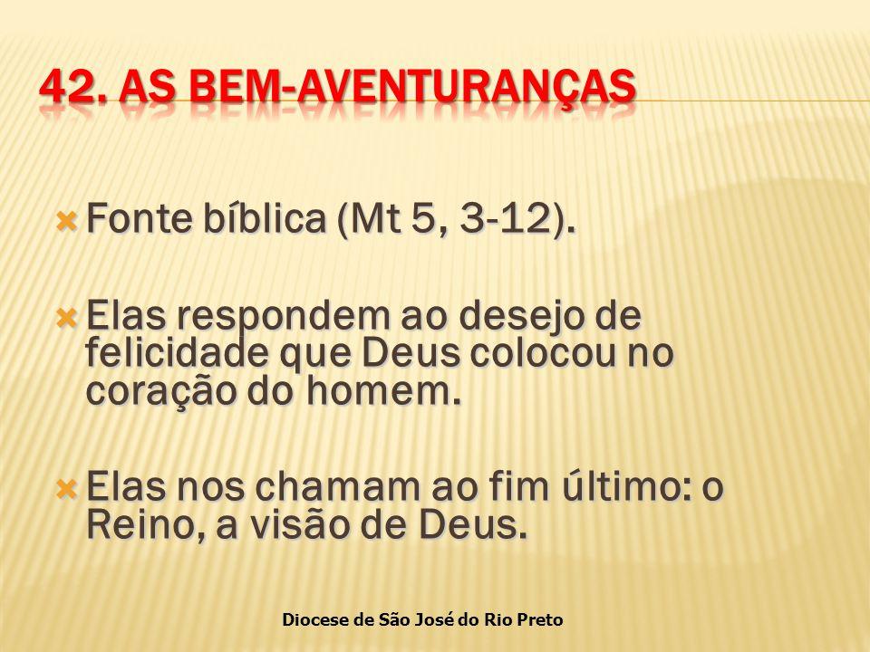 Diocese de São José do Rio Preto  Fonte bíblica (Mt 5, 3-12).