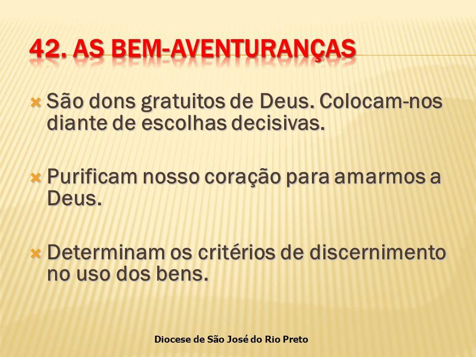 Diocese de São José do Rio Preto  São dons gratuitos de Deus.