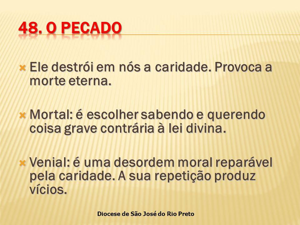 Diocese de São José do Rio Preto  Ele destrói em nós a caridade.