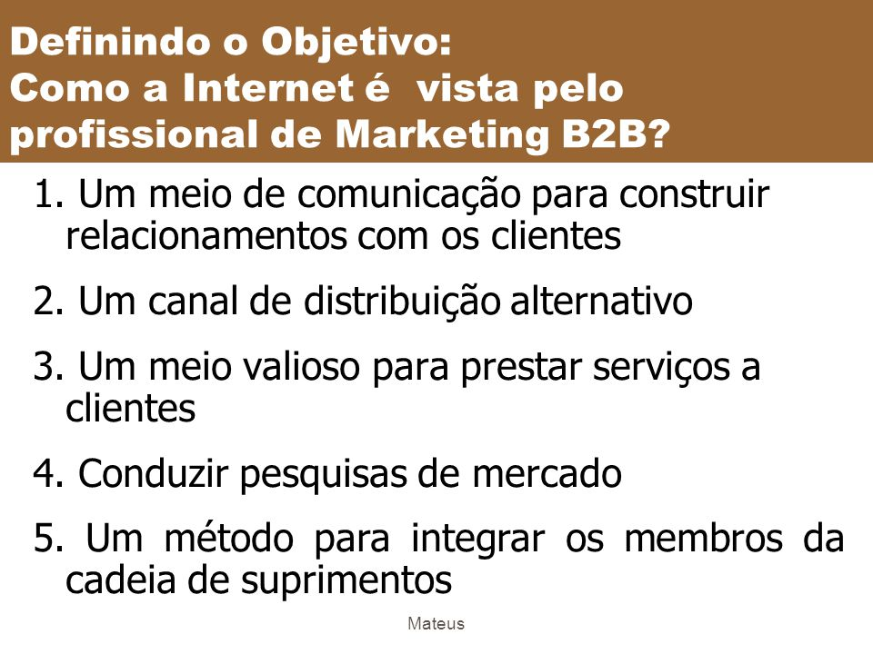 Mateus O que é Marketing B2B.