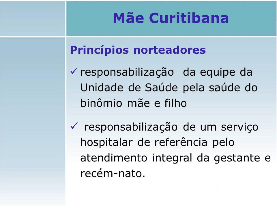 Princípios norteadores responsabilização da equipe da Unidade de Saúde pela saúde do binômio mãe e filho responsabilização de um serviço hospitalar de
