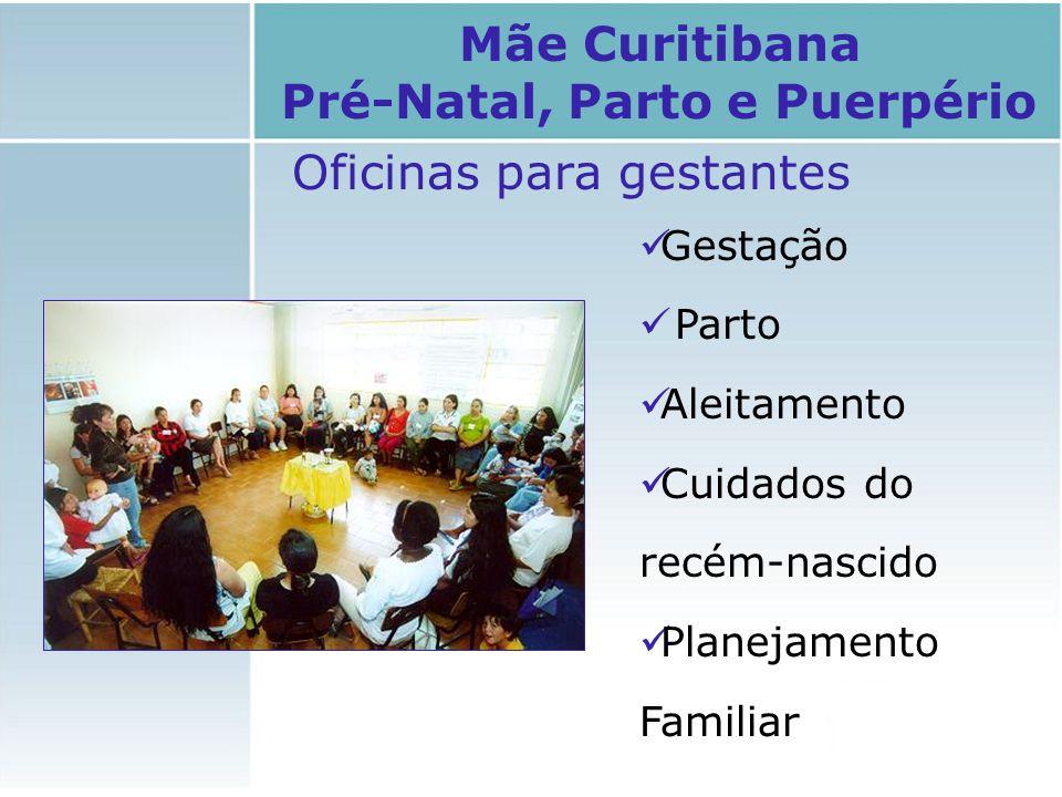 Oficinas para gestantes Gestação Parto Aleitamento Cuidados do recém-nascido Planejamento Familiar Mãe Curitibana Pré-Natal, Parto e Puerpério