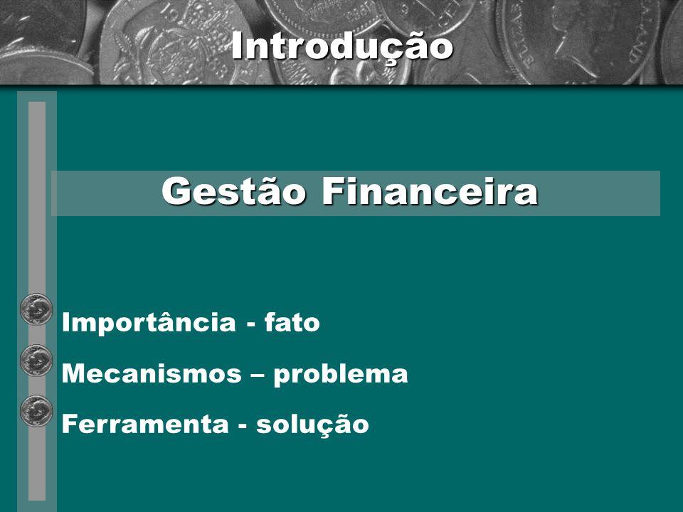 Introdução Mensuração do resultado financeiro Eficácia – fim lucrativo Eficiência – com ou sem fim lucrativo Importância