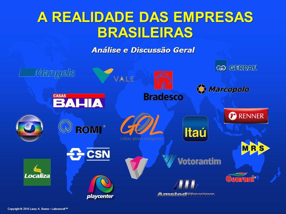 A REALIDADE DAS EMPRESAS BRASILEIRAS Copyright © 2010 Laury A. Bueno Labconsult™ Análise e Discussão Geral