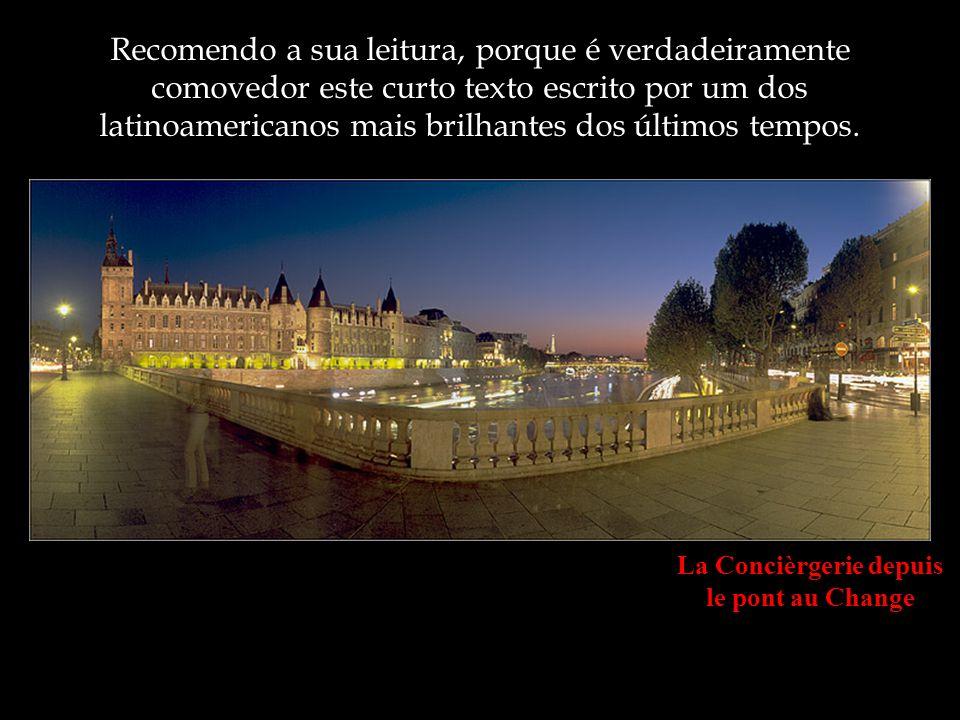 Le Pont des Arts au petit matin Enviou uma carta de despedida aos seus amigos e, graças à Internet, está sendo difundida pelo mundo.