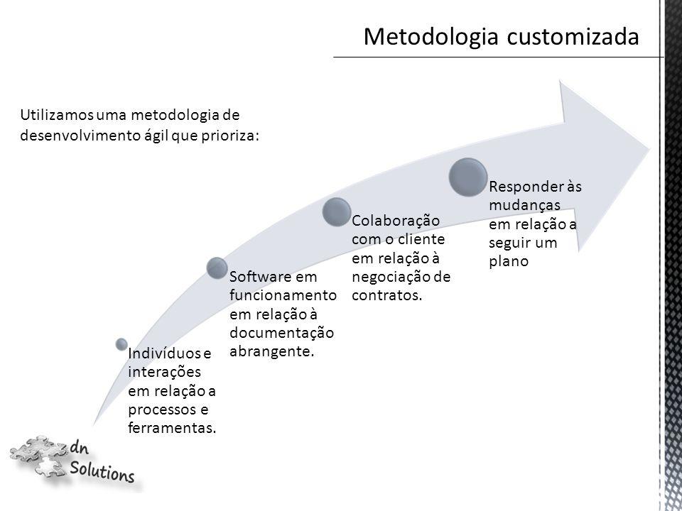 Indivíduos e interações em relação a processos e ferramentas.