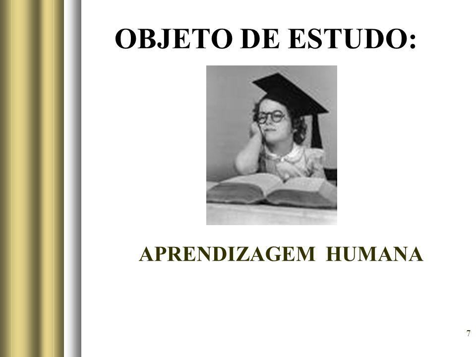 7 OBJETO DE ESTUDO: APRENDIZAGEM HUMANA