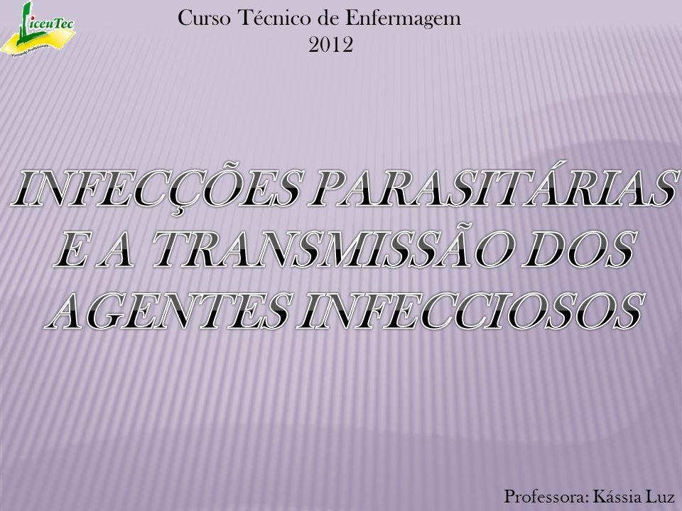 Cadeia de transmissão dos agentes infecciosos Os elementos básicos da cadeia de transmissão das infecções parasitárias são: hospedeiro, agente infeccioso, meio ambiente.