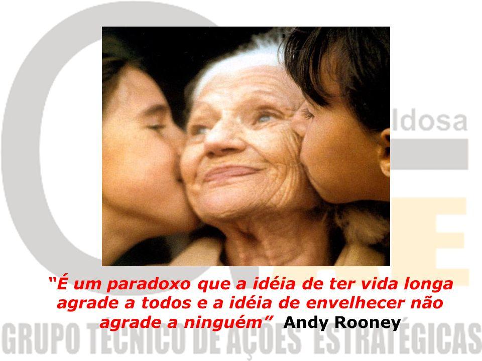É um paradoxo que a idéia de ter vida longa agrade a todos e a idéia de envelhecer não agrade a ninguém Andy Rooney