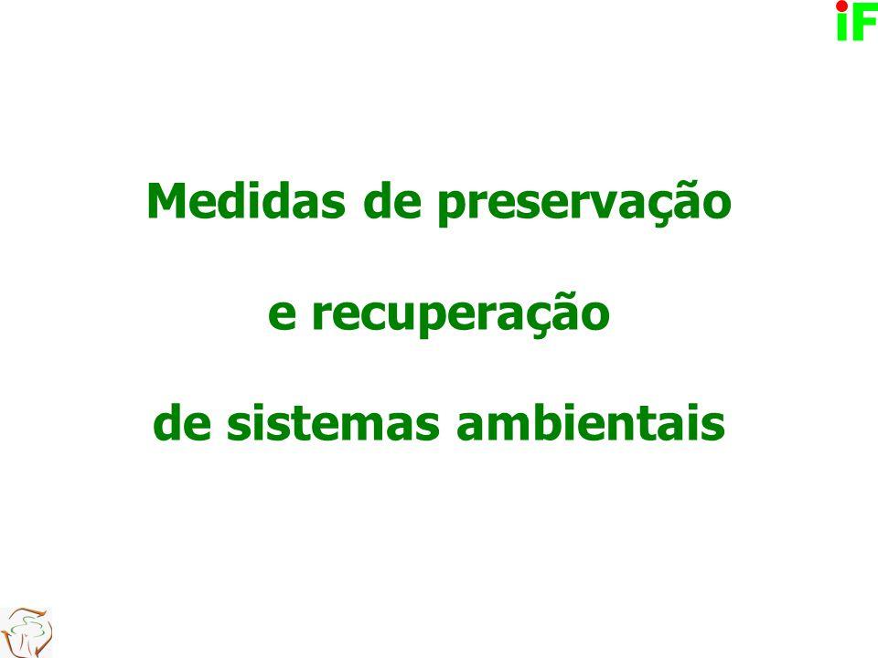 Medidas de preservação e recuperação de sistemas ambientais