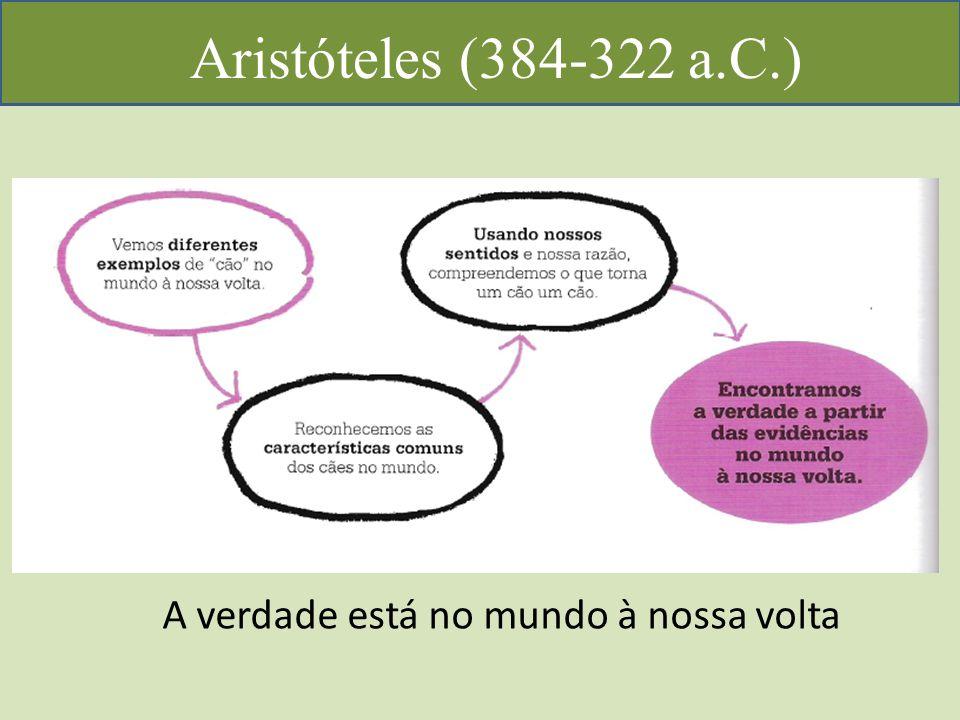 Aristóteles (384-322 a.C.) A verdade está no mundo à nossa volta