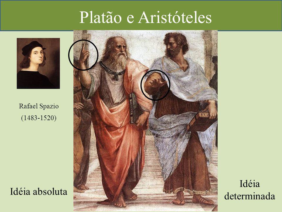 Platão e Aristóteles Rafael Spazio (1483-1520) Idéia absoluta Idéia determinada