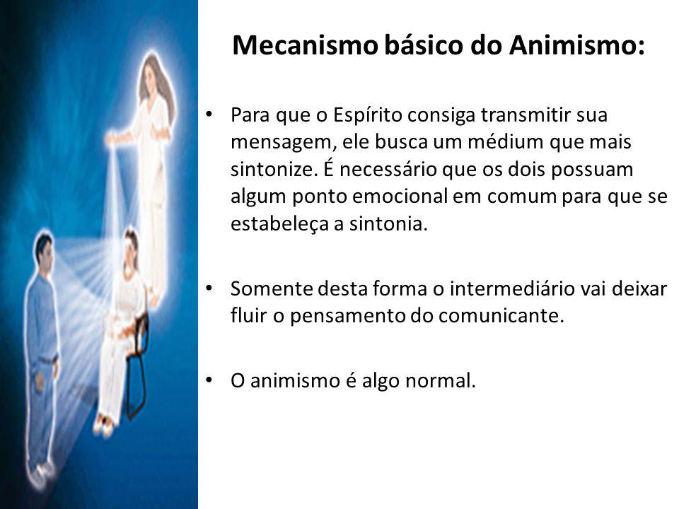 Mecanismo básico do Animismo: Para que o Espírito consiga transmitir sua mensagem, ele busca um médium que mais sintonize.