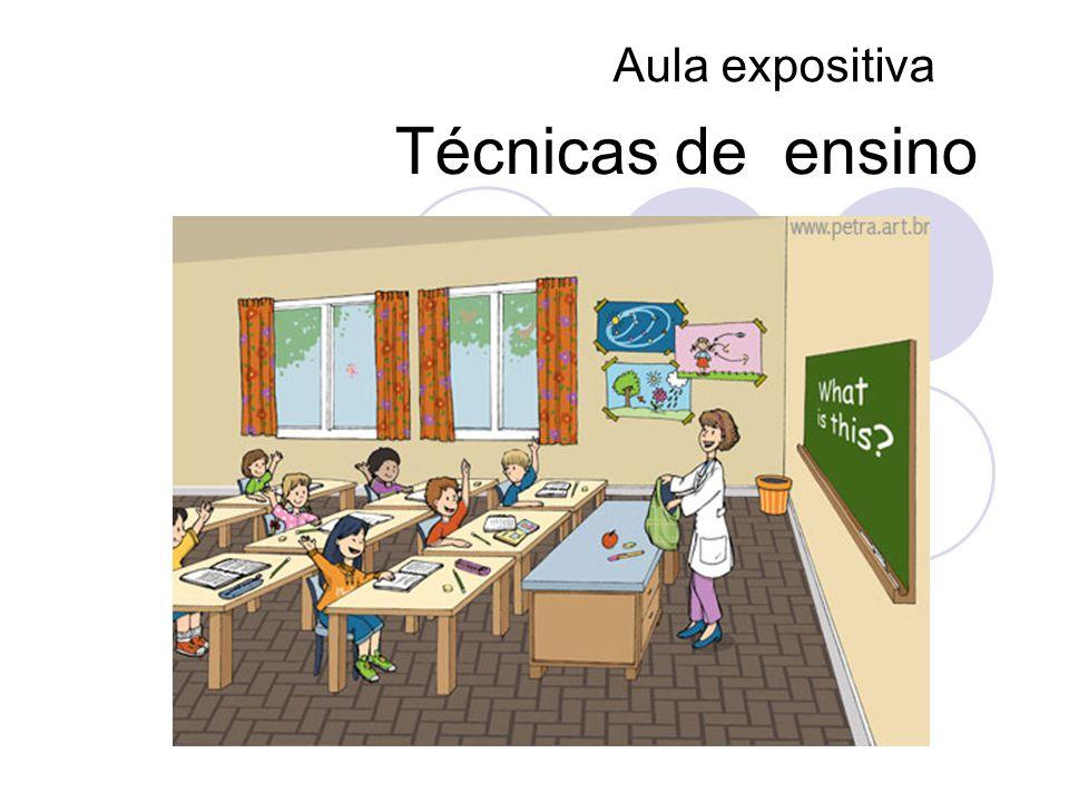 Técnicas de ensino Aula expositiva