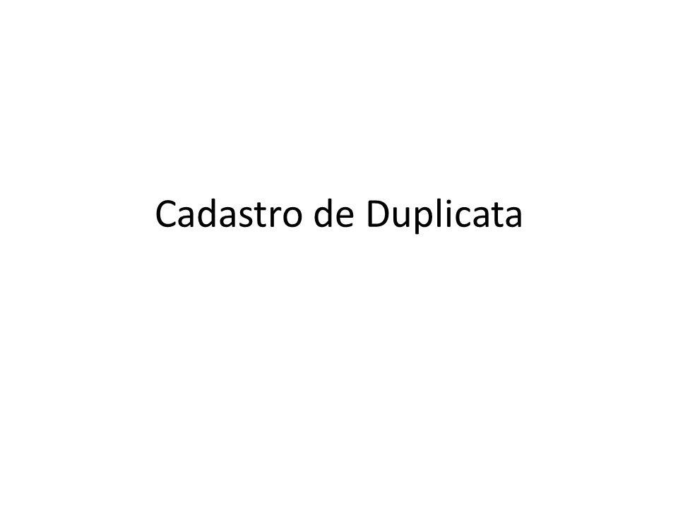 Cadastro de Duplicata