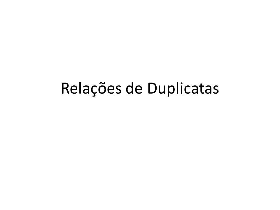 Relações de Duplicatas