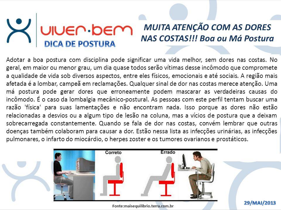 MUITA ATENÇÃO COM AS DORES NAS COSTAS!!.