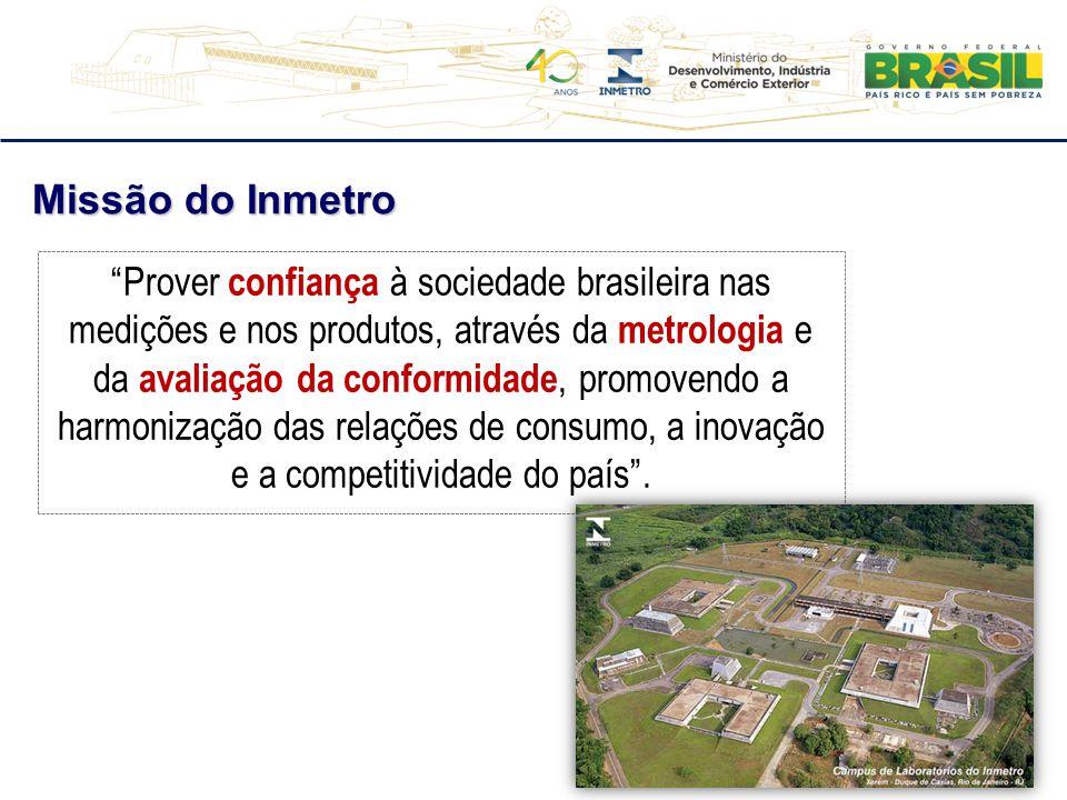 """""""Prover confiança à sociedade brasileira nas medições e nos produtos, através da metrologia e da avaliação da conformidade, promovendo a harmonização"""