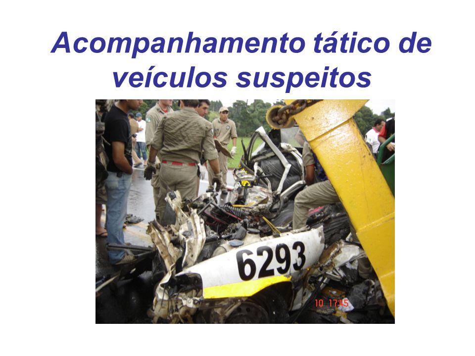 Acompanhamento tático de veículos suspeitos