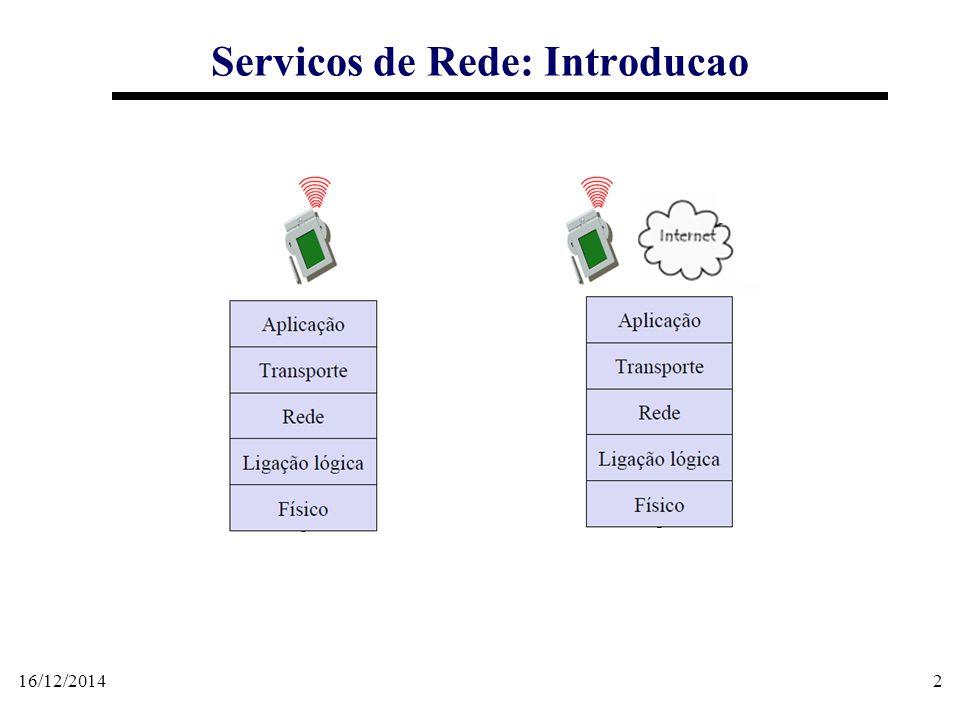16/12/201433 Servicos de Rede: SBL Categorias de Serviços baseados em Localização  Serviços de Tarifação Baseada na Localização; Diferenciação de tarifas da operadora em função do local de uso do serviço; Pedágio automático , em que o valor devido seria proporcional ao tempo de uso ou à distância percorrida na via.