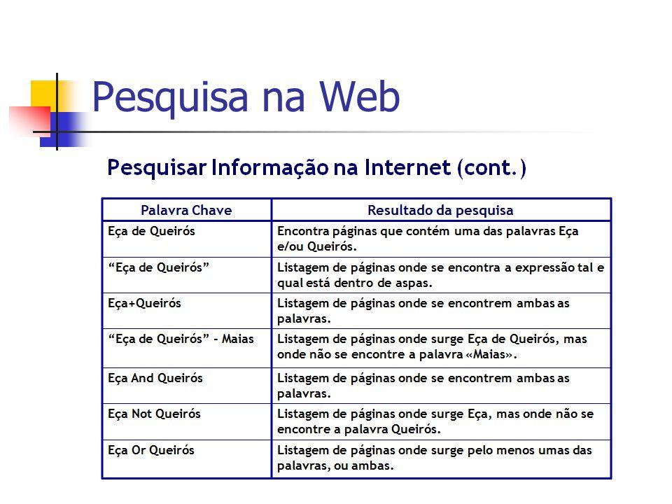 Pesquisa na Web