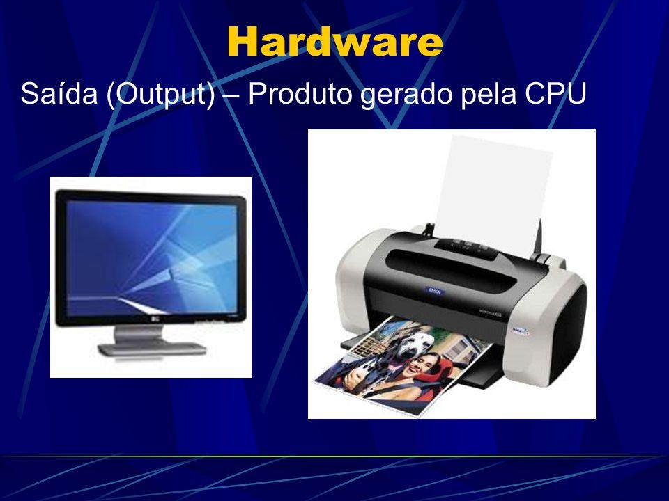 Hardware Saída (Output) – Produto gerado pela CPU