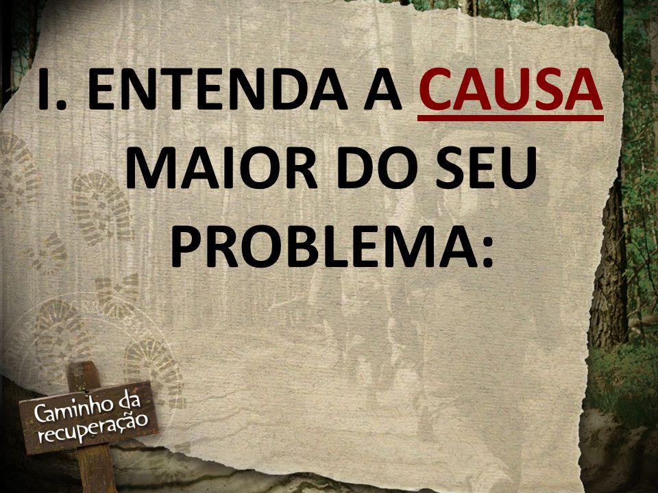I. ENTENDA A CAUSA MAIOR DO SEU PROBLEMA: