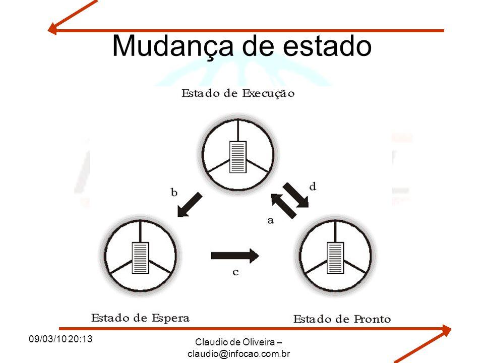 09/03/10 20:13 Claudio de Oliveira – claudio@infocao.com.br Mudança de estado