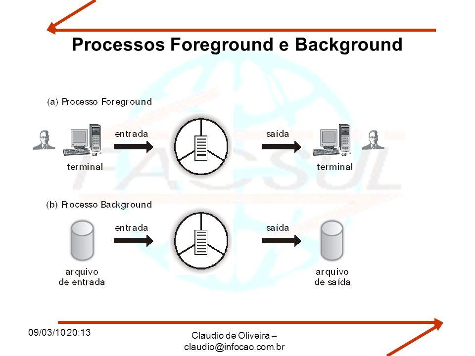 09/03/10 20:13 Claudio de Oliveira – claudio@infocao.com.br Processos Foreground e Background