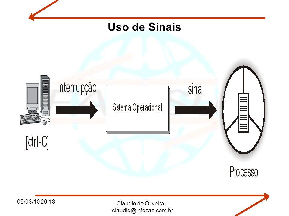 09/03/10 20:13 Claudio de Oliveira – claudio@infocao.com.br Uso de Sinais