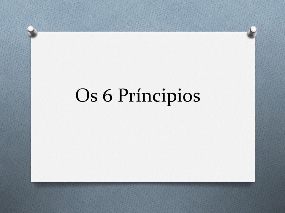 Os 6 Príncipios