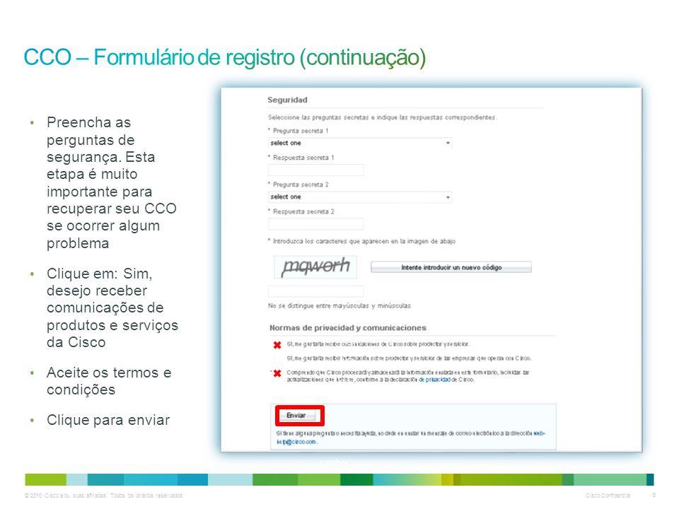 © 2010 Cisco e/ou suas afiliadas. Todos os direitos reservados.