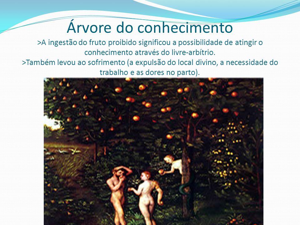 Árvore do conhecimento >A ingestão do fruto proibido significou a possibilidade de atingir o conhecimento através do livre-arbítrio.