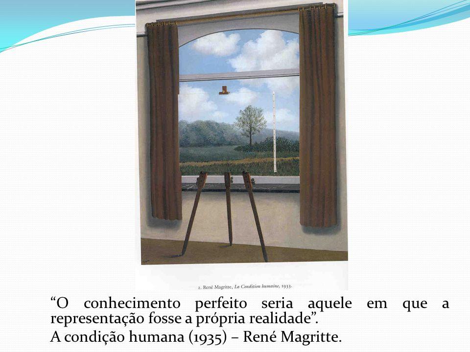 O conhecimento perfeito seria aquele em que a representação fosse a própria realidade .