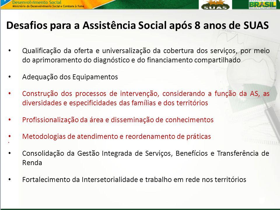 Qualificação da oferta e universalização da cobertura dos serviços, por meio do aprimoramento do diagnóstico e do financiamento compartilhado Adequaçã