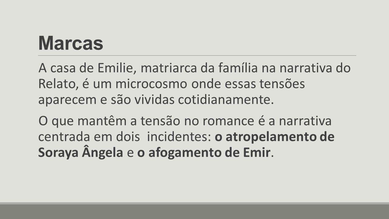 Marcas A casa de Emilie, matriarca da família na narrativa do Relato, é um microcosmo onde essas tensões aparecem e são vividas cotidianamente. O que