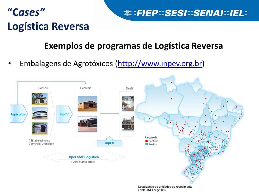 """Cases"" Logística Reversa Exemplos de programas de Logística Reversa Embalagens de Agrotóxicos (http://www.inpev.org.br)http://www.inpev.org.br"