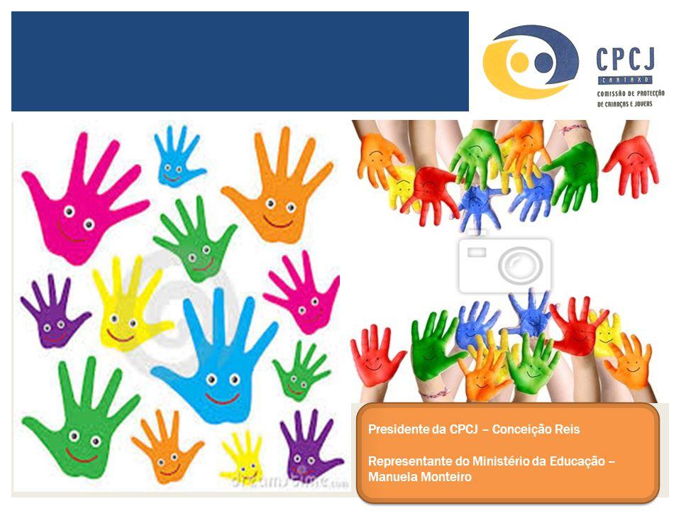 Presidente da CPCJ – Conceição Reis Representante do Ministério da Educação – Manuela Monteiro Presidente da CPCJ – Conceição Reis Representante do Mi