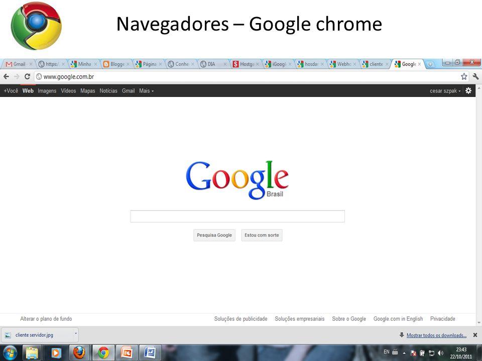 16 Navegadores – Google chrome