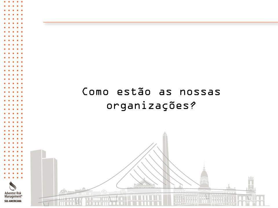 Como estão as nossas organizações?