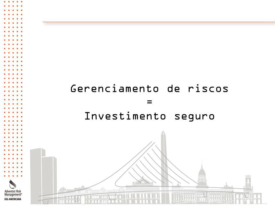 Gerenciamento de riscos = Investimento seguro
