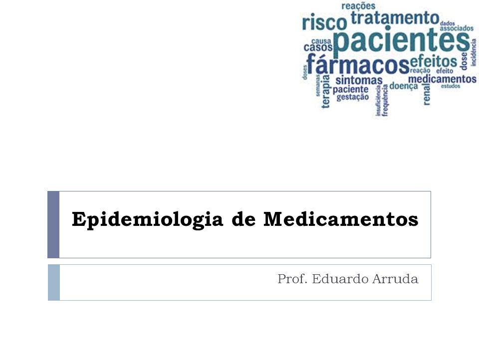 Epidemiologia de Medicamentos Prof. Eduardo Arruda