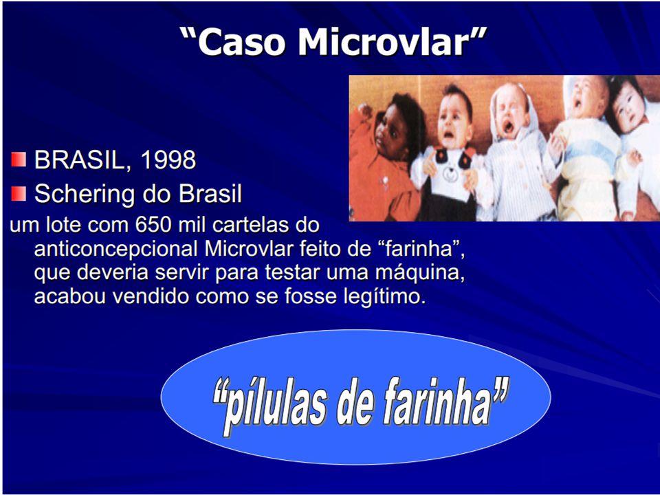 Caso Microvlar  O advogado da Schering do Brasil, Cid Scarpezzini Filho, nega que tenha feito acordos com consumidoras para evitar processos e diz que, de acordo com o último balanço feito pela empresa, foram abertos cerca de 300 ações relacionadas ao caso da pílula da farinha.