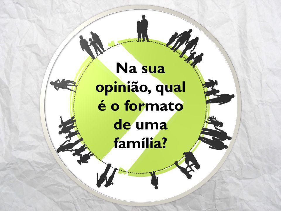 Na sua opinião, qual é o formato de uma família