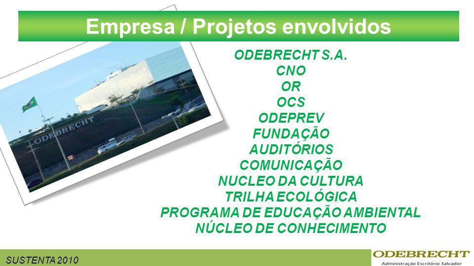SUSTENTA 2010 ODEBRECHT S.A. CNO OR OCS ODEPREV FUNDAÇÃO AUDITÓRIOS COMUNICAÇÃO NUCLEO DA CULTURA TRILHA ECOLÓGICA PROGRAMA DE EDUCAÇÃO AMBIENTAL NÚCL